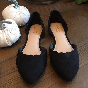 Lauren Conrad Scalloped Flats Size 7